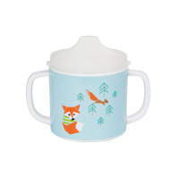 Trinklernbecher 2-handle cup with lid & Silicone, Little Tree Fox