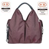 Wickeltasche Neckline Bag Ecoya, burgundy red