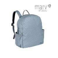 Wickelrucksack Marv Backpack, Tiles blue