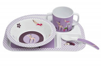 Kindergeschirr Melamin Dish Sets, Little Tree Fawn