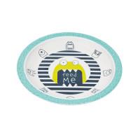 Kinderteller Plate Melamine - Silicone, Little Monsters Bouncing Bob