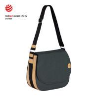 Wickeltasche Green Label Saddle Bag Spin Dye, Black Mélange