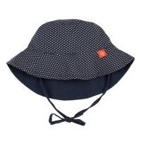 Sonnenhut Sun Protection Bucket Hat, Polka Dots Navy