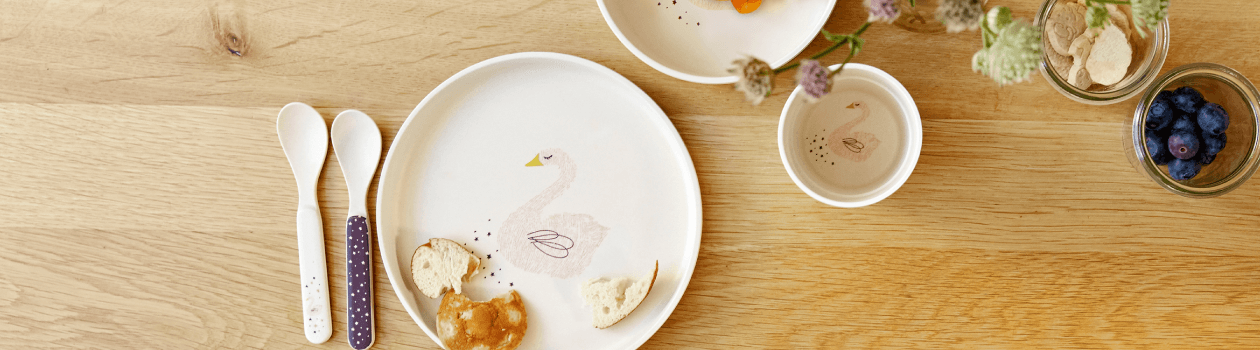 Sustainable bamboo tableware for children
