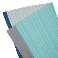 Babydecke Knitted Baby Blanket, Stripes Light Grey