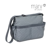 Wickeltasche Marv Shoulder Bag , Tiles Grey