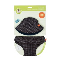 Swim Set girls - Swim Diaper & Hat, Polka Dots Navy