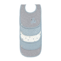 Lätzchen - Bib Value Pack 5pcs, Lela Light Blue