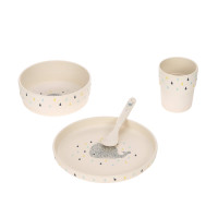 Kindergeschirr Set mit Bambus - Dish Set, Little Water Whale
