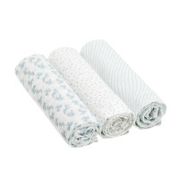 Mulltücher Heavenly Soft Swaddle & Burp Blanket L, Lela Light Blue
