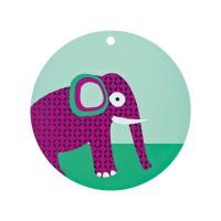 Tischset Placemat Silicone, Wildlife Elephant