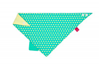 Bandana with silicone teether-Dottie green