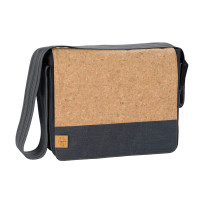 Wickeltasche Casual Messenger Bag, Cork Dark Grey