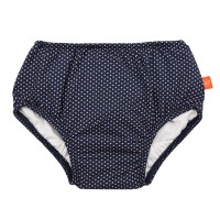 Swim Diaper Girls, Polka Dots navy