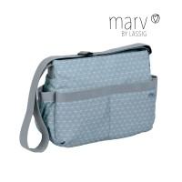 Wickeltasche Marv Shoulder Bag , Tiles blue