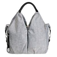 Wickeltasche Neckline Bag, black mélange