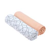 Mulltücher - Muslin Swaddle & Burp Blanket XL, Little Spookies Peach