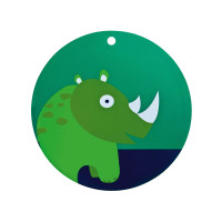 Tischset Placemat Silicone, Wildlife Rhino