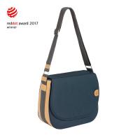 Wickeltasche Green Label Saddle Bag Spin Dye, Blue Mélange
