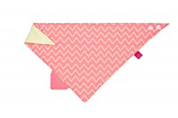 Bandana with silicone teether-Zigzag red