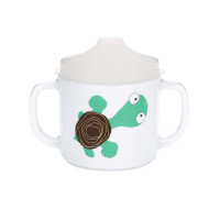 Trinklernbecher 2-handle cup with lid & Silicone, Wildlife Turtle