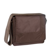 Wickeltasche Messenger Bag, Patchwork choco
